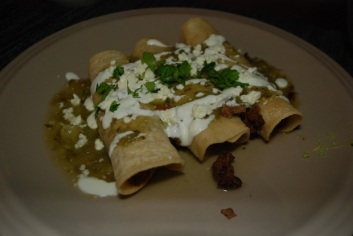 lamb enchiladas with salsa verde