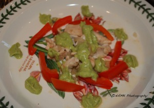 Avocado tomatillo chicken