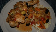 Chicken and Israeli couscous