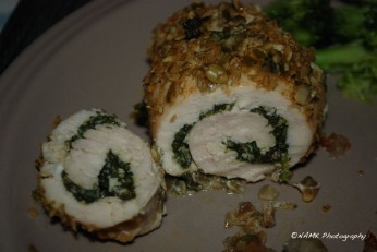 chicken roll cut open