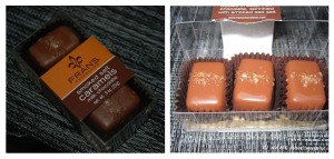 salted caramel chocolates duo