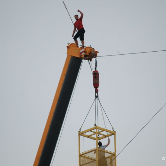 completing the high wire walk