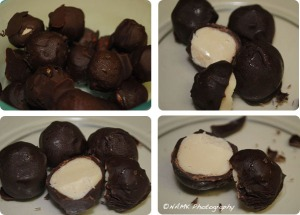 Baileys white chocolate truffles