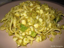 linguine with almond pesto