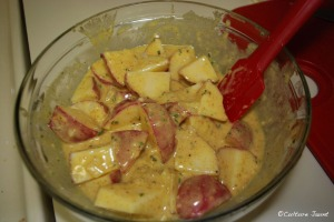 Potatoes in lemon sauce