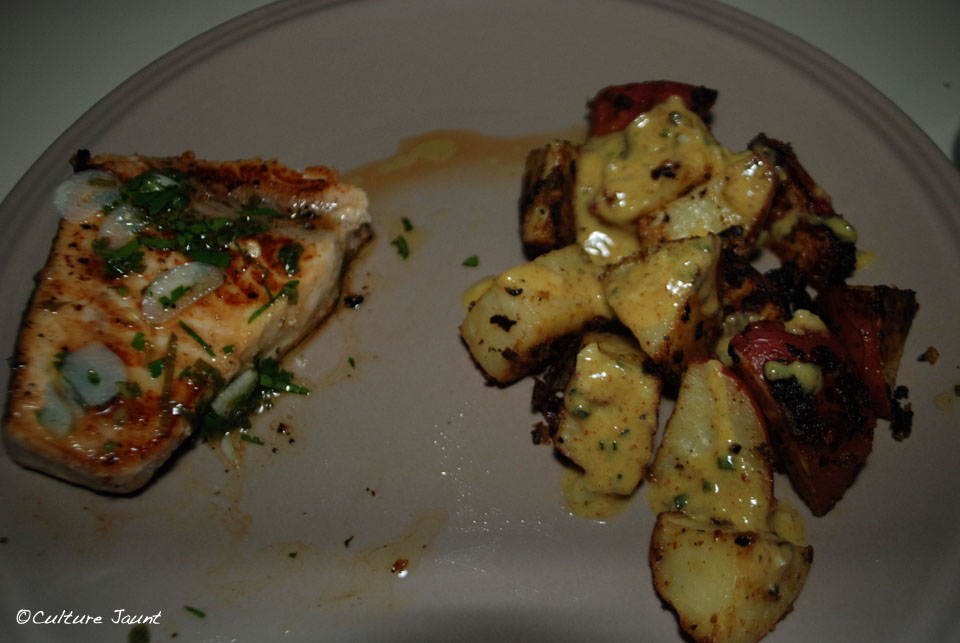 Swordfish with roasted potatoes