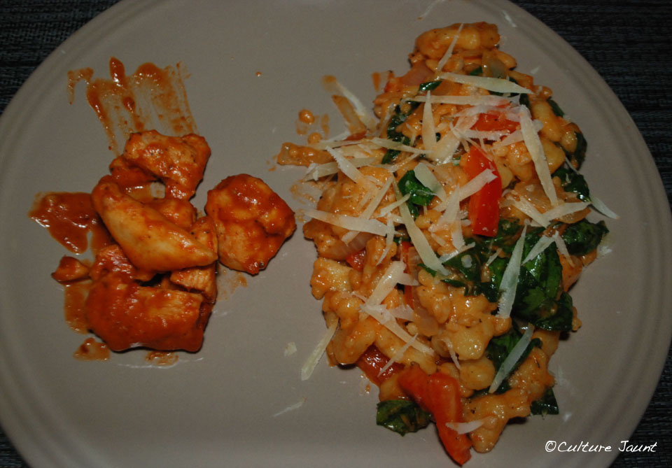 frascatelli with chicken