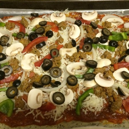Vegetable pizza topping