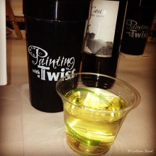 One of the many glasses of wine imbibed that night. (Photo from my Instagram)
