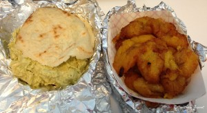 chicken arepa