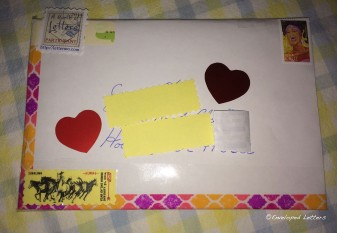 Front of envelope.