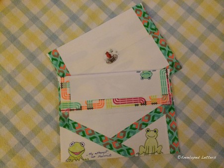 The back of envelopes are just as fun to decorate