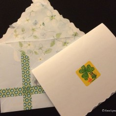 I love that the envelope and stationery matched.