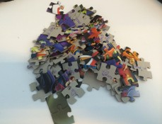 The puzzle letter pile.