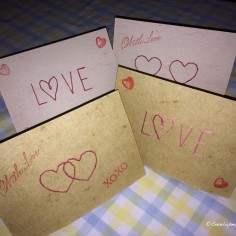 Stitched Valentines cards