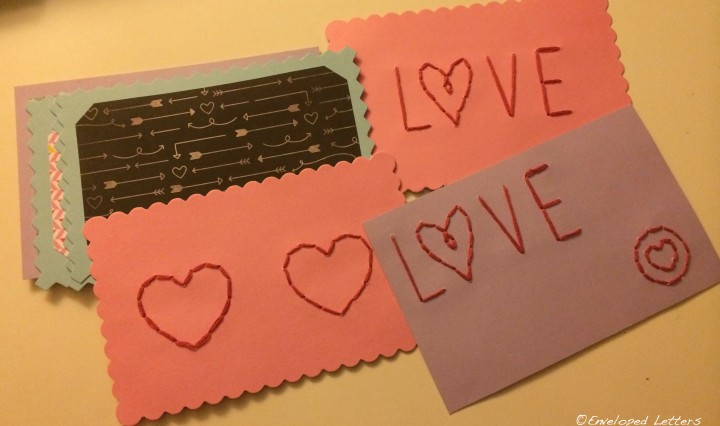 Stitched notecards